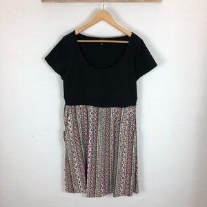NWOT Torrid T-shirt dress with printed skirt